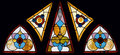 Multi Panel Vintage Stained Glass Church Window Stock Photo - 1233920