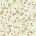 Vector Seamless Pattern Of Flowers And Leaves Stock Photos - 12304513