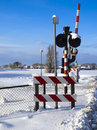 Railway Signs And Barrier Stock Photo - 12322900