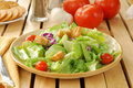 Salad With Tomatoes Royalty Free Stock Image - 12330836