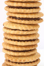 Stack Of Biscuits With Chocolate Filling Stock Photo - 12352550