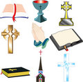 Church Icons 2 Royalty Free Stock Photography - 12355347