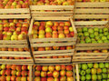 Apples In Selling Crates On Market Royalty Free Stock Photography - 12367507
