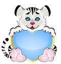 Beautiful Little Tiger With Heart Stock Images - 12373824