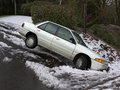 Car In The Ditch Royalty Free Stock Photos - 12376978
