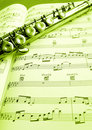 Old Flute And Music Score Stock Image - 12386931