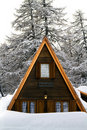 House With The Snow Royalty Free Stock Photography - 12389797
