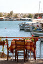 Little Greek Restaurant By The Harbour Royalty Free Stock Photo - 1244095