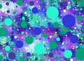All Dotted In Blues And Aqua Stock Photography - 12409172