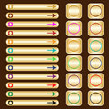 Web Buttons, Gold With Assorted Colored Elements Royalty Free Stock Images - 12429279