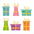 Set Of 6 Gifts Icons Stock Image - 12440851