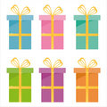 Set Of 6 Gifts Icons Royalty Free Stock Photography - 12440887