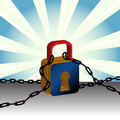 Padlock And Chains Royalty Free Stock Photo - 12447455