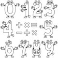 Coloring Cartoon Numbers Stock Image - 12457521
