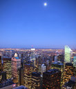 Moon Over Manhattan Stock Photography - 12458422