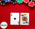 Ace King Offsuited On The Button Royalty Free Stock Photos - 12477758