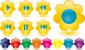 Music Buttons As Yellow Flower Royalty Free Stock Photo - 12488465