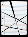 Cut Torn Up Ruled Notebook Paper Pieces Royalty Free Stock Photography - 12490657