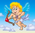 Valentine Cupid With Bow On Sky Stock Photo - 12516150