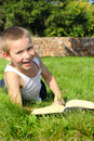 Kid With A Book Royalty Free Stock Photo - 12547885