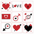 Love Icons Royalty Free Stock Photography - 12548487