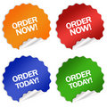 Order Now Today Sticker Stock Photo - 12560630
