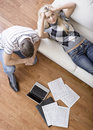 Young Couple Doing Taxes Stock Images - 12564654