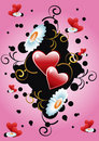 Floral Background Heart Stock Images - 12575894