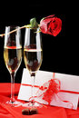 Champagne  And Letter Stock Photography - 12578782