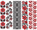Ukrainian Embroidery Flower Elements Royalty Free Stock Images - 12599489