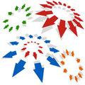 Radiating Arrows Stock Images - 12624054
