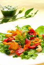 Salad With Sweet Potato ,pepper And Tomato Stock Image - 12641461