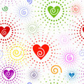 Abstract Seamless Valentine Pattern Stock Photo - 12648760