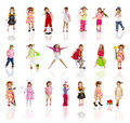 Collection Photos Of Cute Little Girl On White Royalty Free Stock Images - 12657959