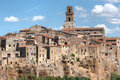 Small Tuscany Village On Cliff Royalty Free Stock Photo - 12659385