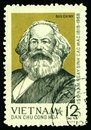 Vintage Postage Stamp With Karl Marx. Royalty Free Stock Images - 12662069