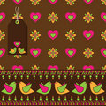 Bird Floral Wrapping Stock Image - 12681031