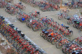 Bicycle Parking Lot Royalty Free Stock Images - 12688609