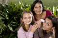 Family Portrait, Mother With Two Beautiful Daughte Royalty Free Stock Photos - 12696128
