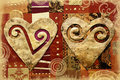 Hearts On Collage Stock Image - 12708931