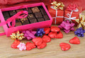 Small Heart Chocolates Stock Photos - 12715783
