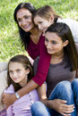 Family Portrait, Mother With Three Children Royalty Free Stock Image - 12719486