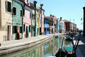 Colorful Houses And Canal Of Burano, Venice Italy Stock Photography - 12731372