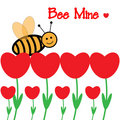 Valentine S Bee Flower Card Royalty Free Stock Images - 12735589