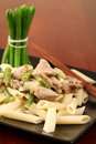 Penne Rigate With Pork And Green Beans Stock Photo - 12739990