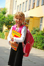 Young Girl Going To School Stock Photography - 12746752