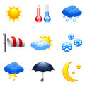 Weather Icons. Royalty Free Stock Photos - 12772528