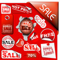 Set Of Sale Tickets, Labels, Stamps, Stickers Stock Images - 12778024