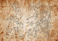 Image From The Mayan Dresden Codex Stock Photography - 12787682