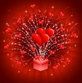 Hearts Coming Out Of Gift Box Stock Photo - 12797520